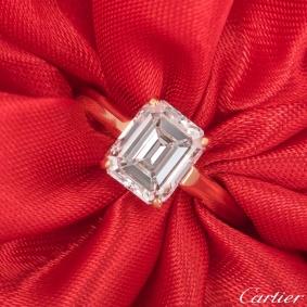 Cartier Yellow Gold Diamond 1895 Solitaire Ring 1.84ct E/VS1